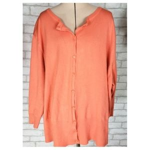 Lane Bryant Button Front Cardigan Sweater 26/28